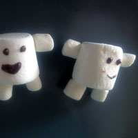 How to make Adipose Marshmallows from Doctor Who | CookFiction.com