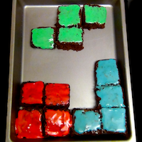How to make Tetris Brownies from Tetris | CookFiction.com