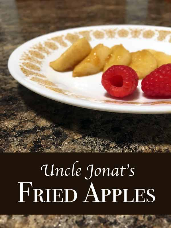 How to make Uncle Jonat's Fried Apples from Flash, by L. E. Modesitt, Jr. | CookFiction.com