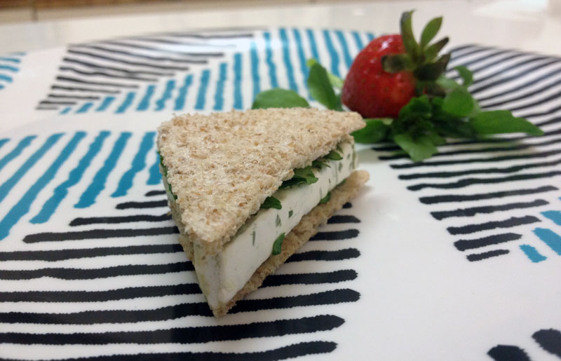 How to make Soft Cheese & Watercress Sandwich from High Rhulain (Redwall) | CookFiction.com